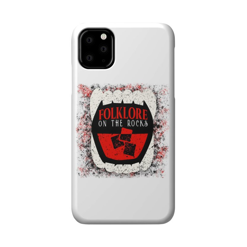 Folklore on the Rocks Classic Logo w/ Grunge Background Accessories Phone Case by Folklore on the Rocks Podcast MERCH!