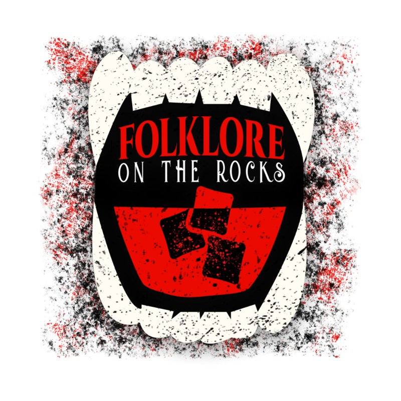 Folklore on the Rocks Classic Logo w/ Grunge Background Men's T-Shirt by Folklore on the Rocks Podcast MERCH!