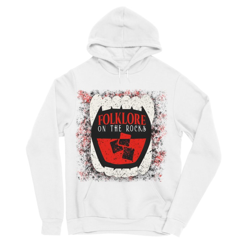 Folklore on the Rocks Classic Logo w/ Grunge Background Women's Sponge Fleece Pullover Hoody by Folklore on the Rocks Podcast MERCH!