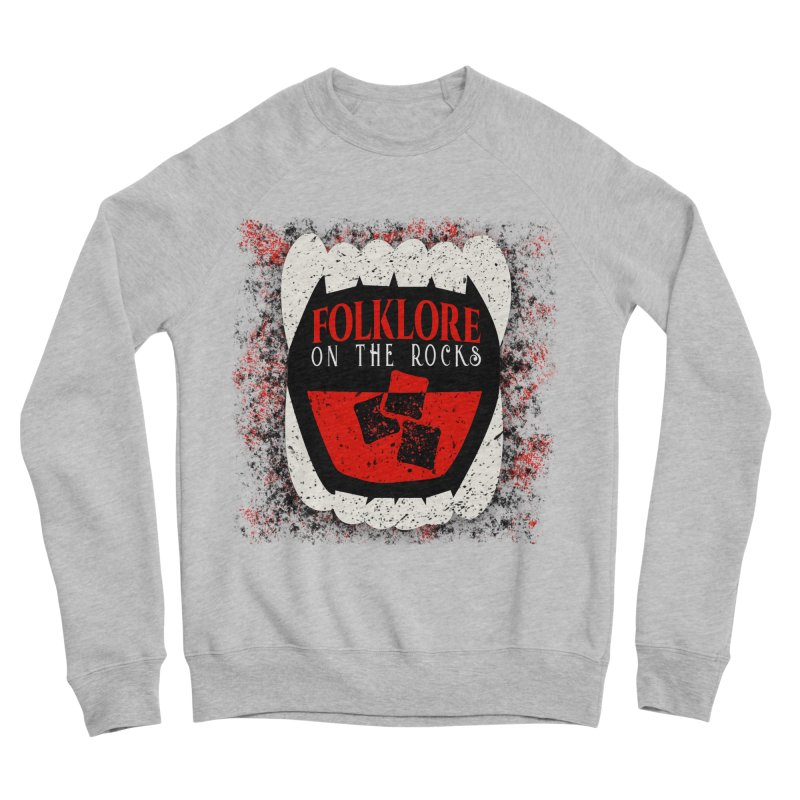 Folklore on the Rocks Classic Logo w/ Grunge Background Women's Sponge Fleece Sweatshirt by Folklore on the Rocks Podcast MERCH!