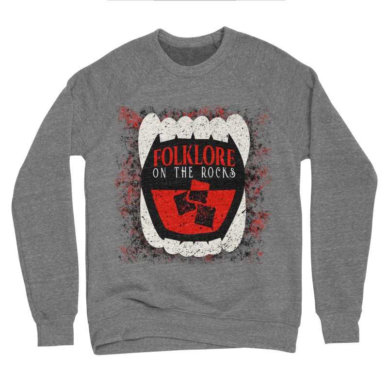 Folklore on the Rocks Classic Logo w/ Grunge Background Men's Sponge Fleece Sweatshirt by Folklore on the Rocks Podcast MERCH!