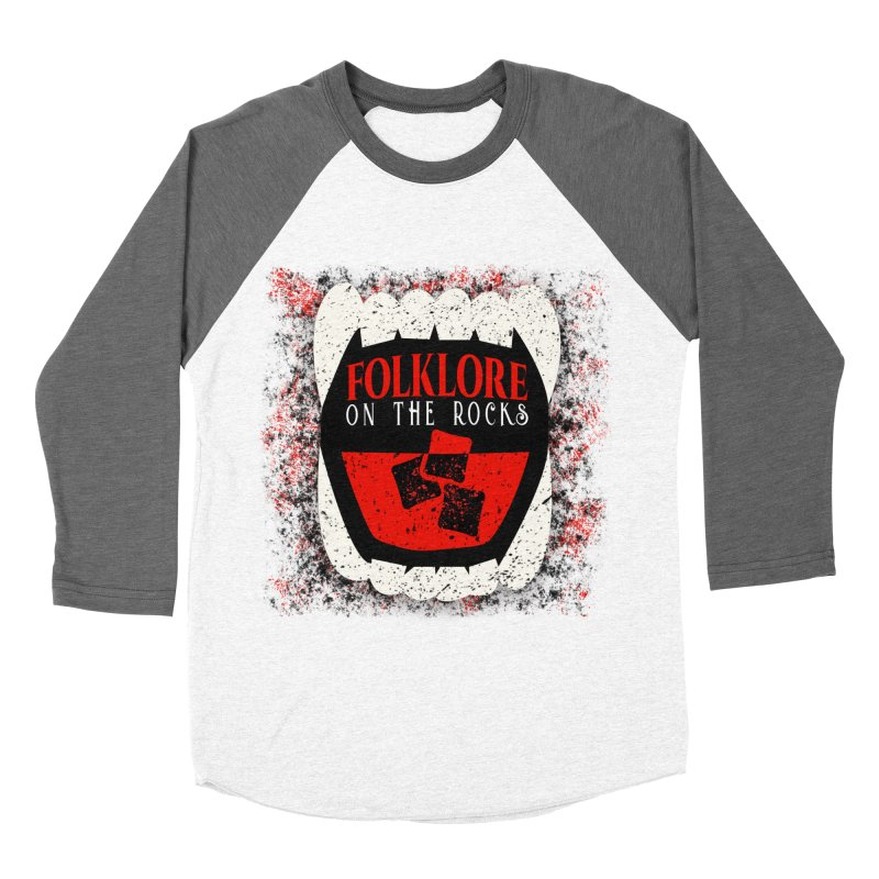 Folklore on the Rocks Classic Logo w/ Grunge Background Women's Longsleeve T-Shirt by Folklore on the Rocks Podcast MERCH!