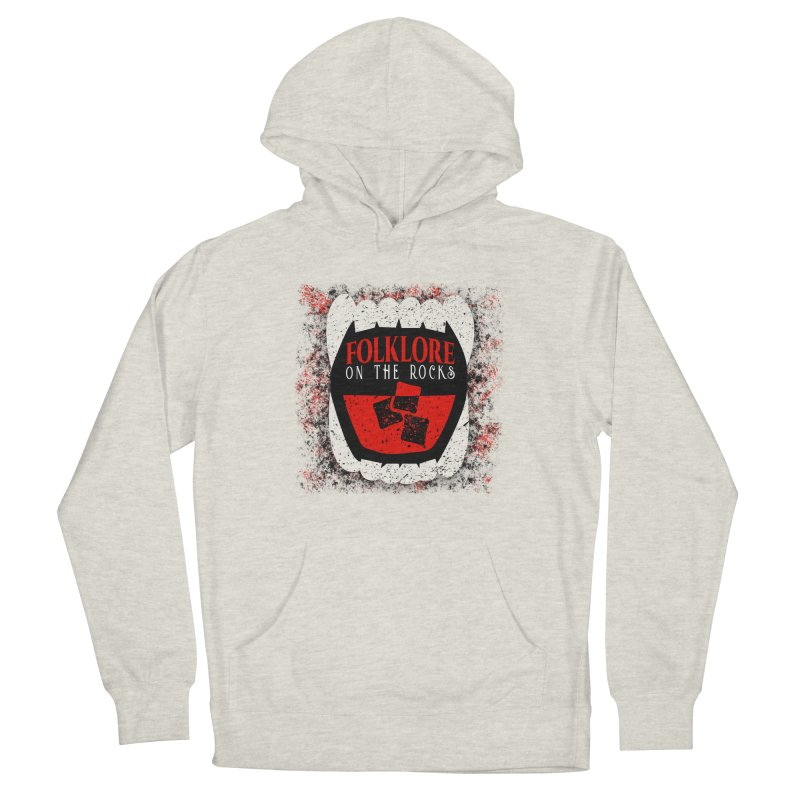 Folklore on the Rocks Classic Logo w/ Grunge Background Women's French Terry Pullover Hoody by Folklore on the Rocks Podcast MERCH!