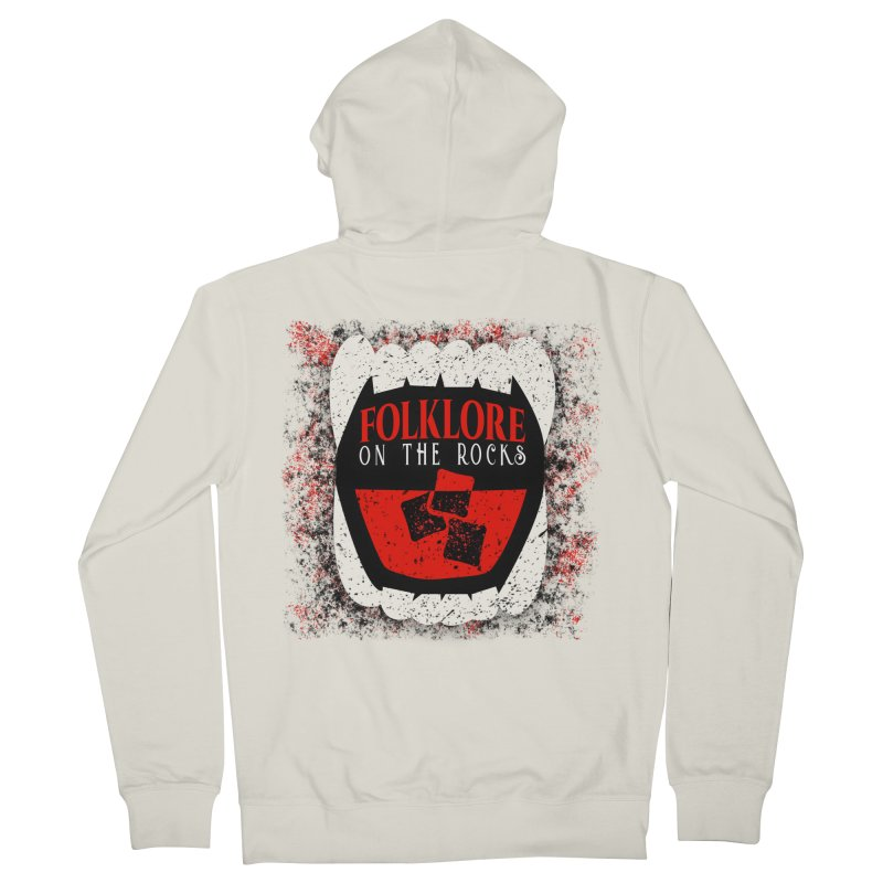 Folklore on the Rocks Classic Logo w/ Grunge Background Women's French Terry Zip-Up Hoody by Folklore on the Rocks Podcast MERCH!