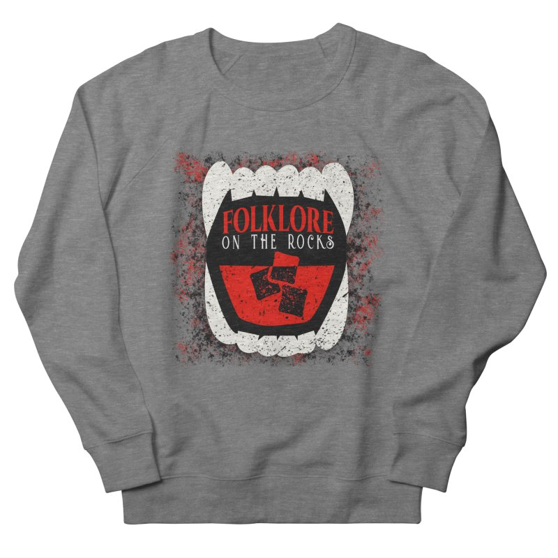 Folklore on the Rocks Classic Logo w/ Grunge Background Women's French Terry Sweatshirt by Folklore on the Rocks Podcast MERCH!