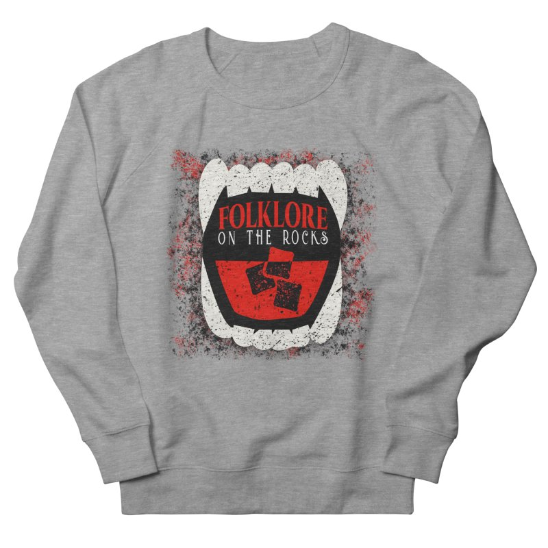 Folklore on the Rocks Classic Logo w/ Grunge Background Men's French Terry Sweatshirt by Folklore on the Rocks Podcast MERCH!