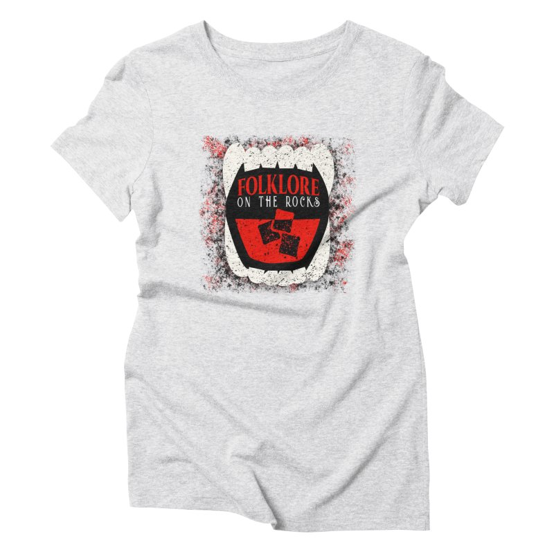 Folklore on the Rocks Classic Logo w/ Grunge Background Women's Triblend T-Shirt by Folklore on the Rocks Podcast MERCH!