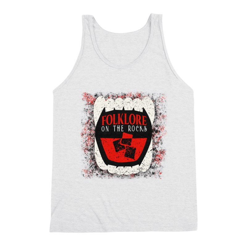 Folklore on the Rocks Classic Logo w/ Grunge Background Men's Triblend Tank by Folklore on the Rocks Podcast MERCH!
