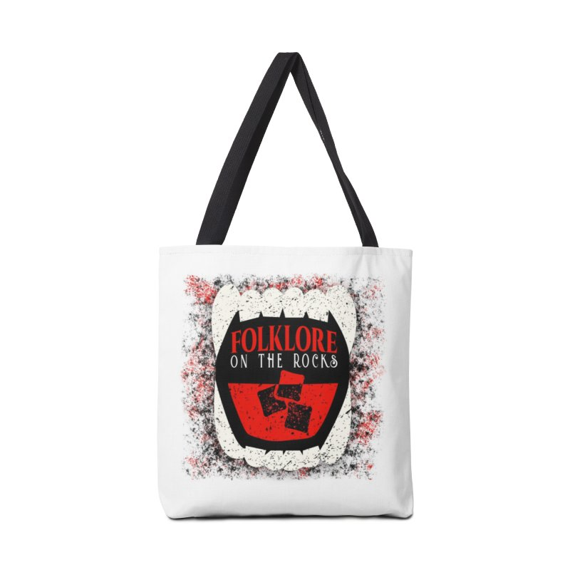 Folklore on the Rocks Classic Logo w/ Grunge Background Accessories Tote Bag Bag by Folklore on the Rocks Podcast MERCH!
