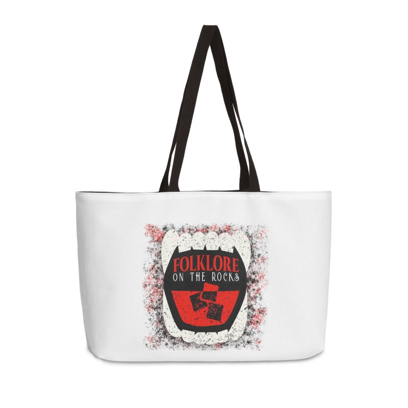 Folklore on the Rocks Classic Logo w/ Grunge Background Accessories Weekender Bag Bag by Folklore on the Rocks Podcast MERCH!