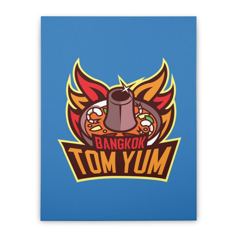 Bangkok Tom Yum Home Stretched Canvas by foodfight's Artist Shop