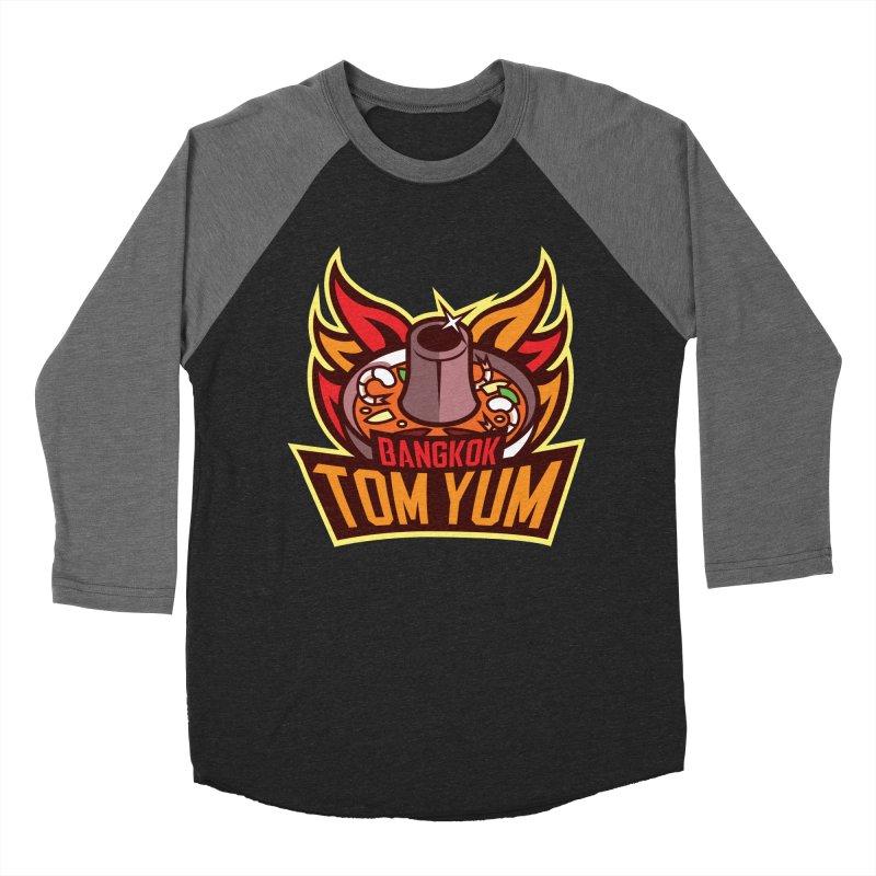Bangkok Tom Yum Men's Baseball Triblend T-Shirt by foodfight's Artist Shop