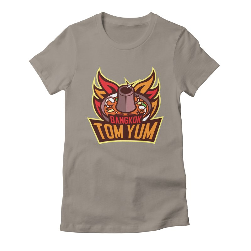 Bangkok Tom Yum Women's Fitted T-Shirt by foodfight's Artist Shop