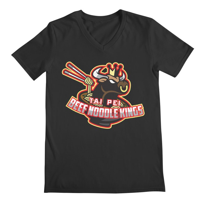TAI PEI NOODLE KINGS Men's V-Neck by foodfight's Artist Shop