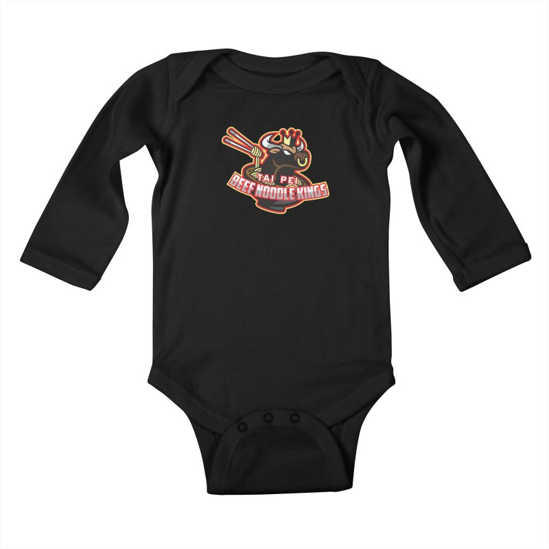 TAI PEI NOODLE KINGS Kids Baby Longsleeve Bodysuit by foodfight's Artist Shop