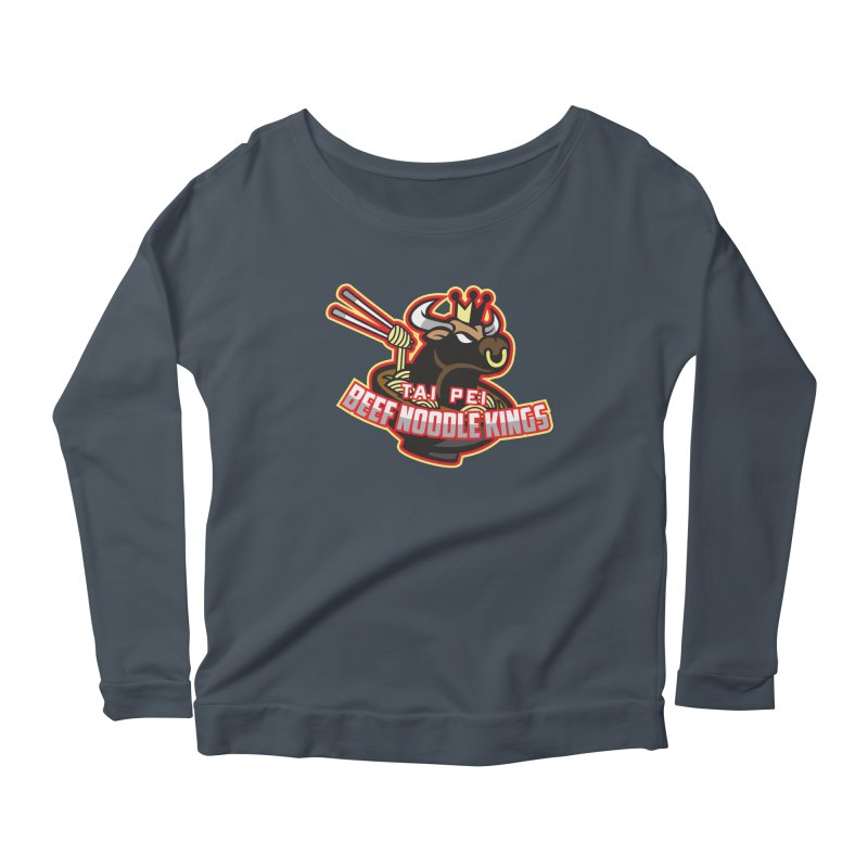 TAI PEI NOODLE KINGS Women's Longsleeve Scoopneck  by foodfight's Artist Shop