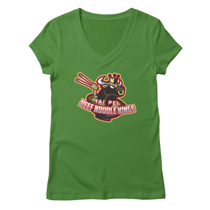 TAI PEI NOODLE KINGS Women's V-Neck by foodfight's Artist Shop