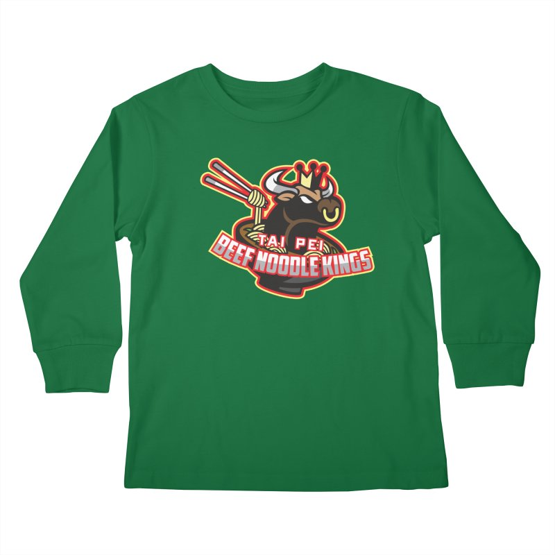 TAI PEI NOODLE KINGS Kids Longsleeve T-Shirt by foodfight's Artist Shop