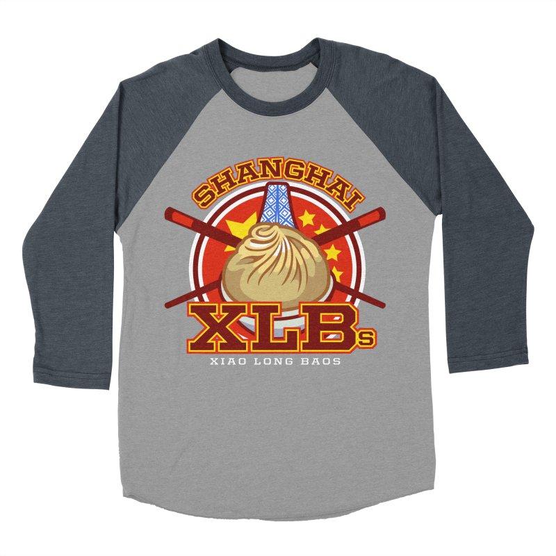 SHANGHAI XLBs (Xiao Long Baos) Men's Baseball Triblend T-Shirt by foodfight's Artist Shop
