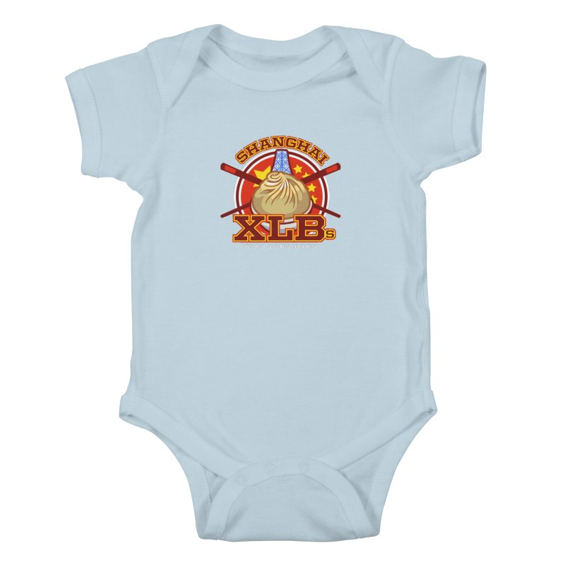 SHANGHAI XLBs (Xiao Long Baos) Kids Baby Bodysuit by foodfight's Artist Shop