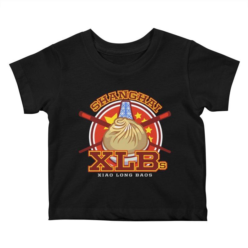 SHANGHAI XLBs (Xiao Long Baos) Kids Baby T-Shirt by foodfight's Artist Shop