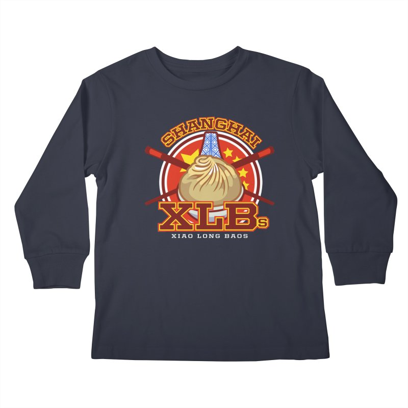 SHANGHAI XLBs (Xiao Long Baos) Kids Longsleeve T-Shirt by foodfight's Artist Shop