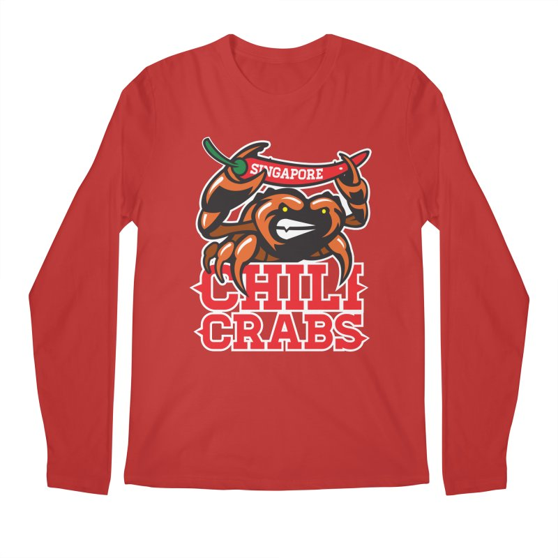 SINGAPORE CHILI CRABS Men's Longsleeve T-Shirt by foodfight's Artist Shop