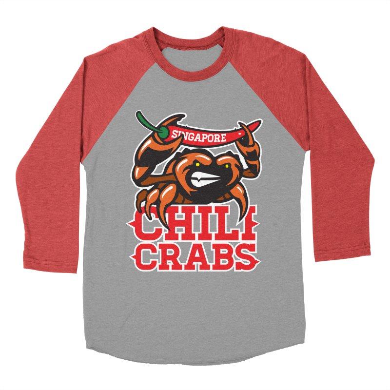 SINGAPORE CHILI CRABS Women's Baseball Triblend T-Shirt by foodfight's Artist Shop