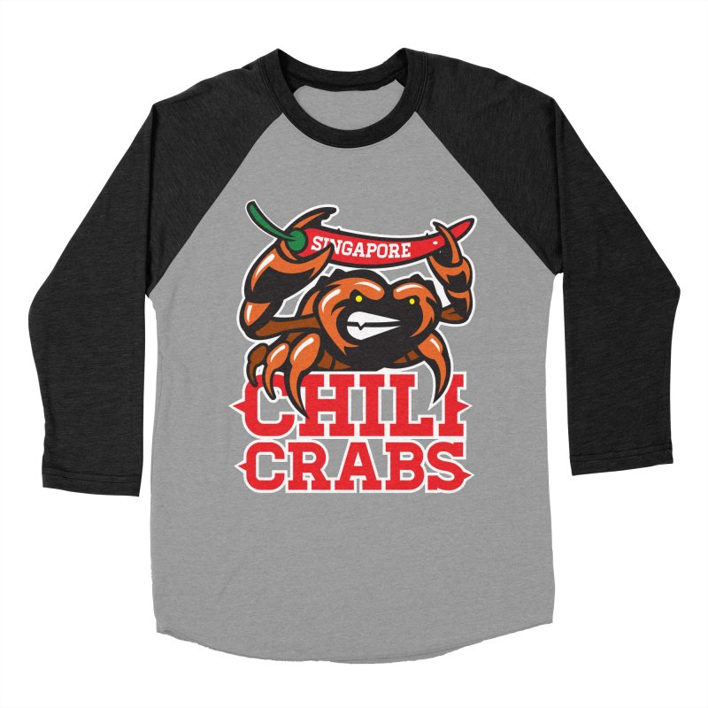 SINGAPORE CHILI CRABS Women's Baseball Triblend T-Shirt by foodfight's Artist Shop