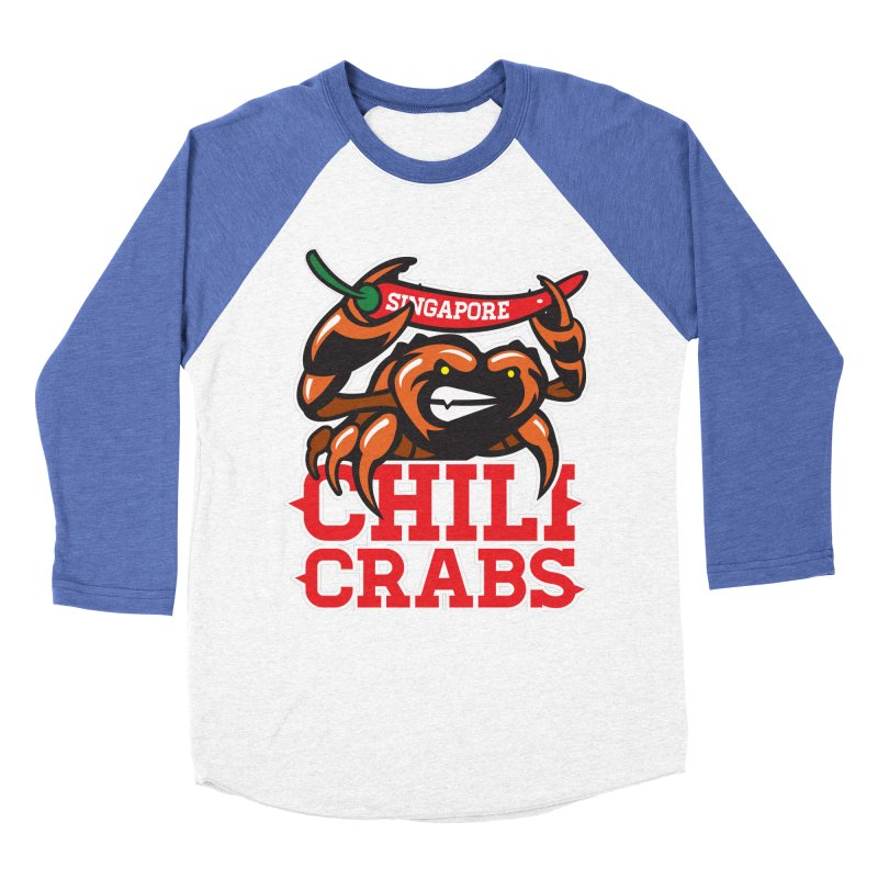 SINGAPORE CHILI CRABS Men's Baseball Triblend T-Shirt by foodfight's Artist Shop