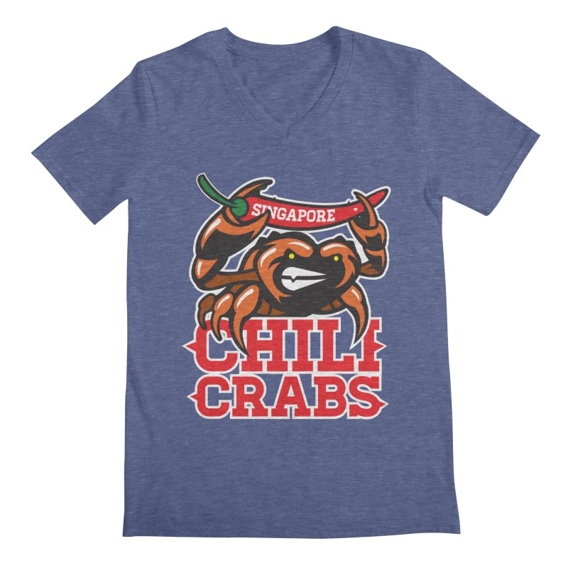 SINGAPORE CHILI CRABS Men's V-Neck by foodfight's Artist Shop