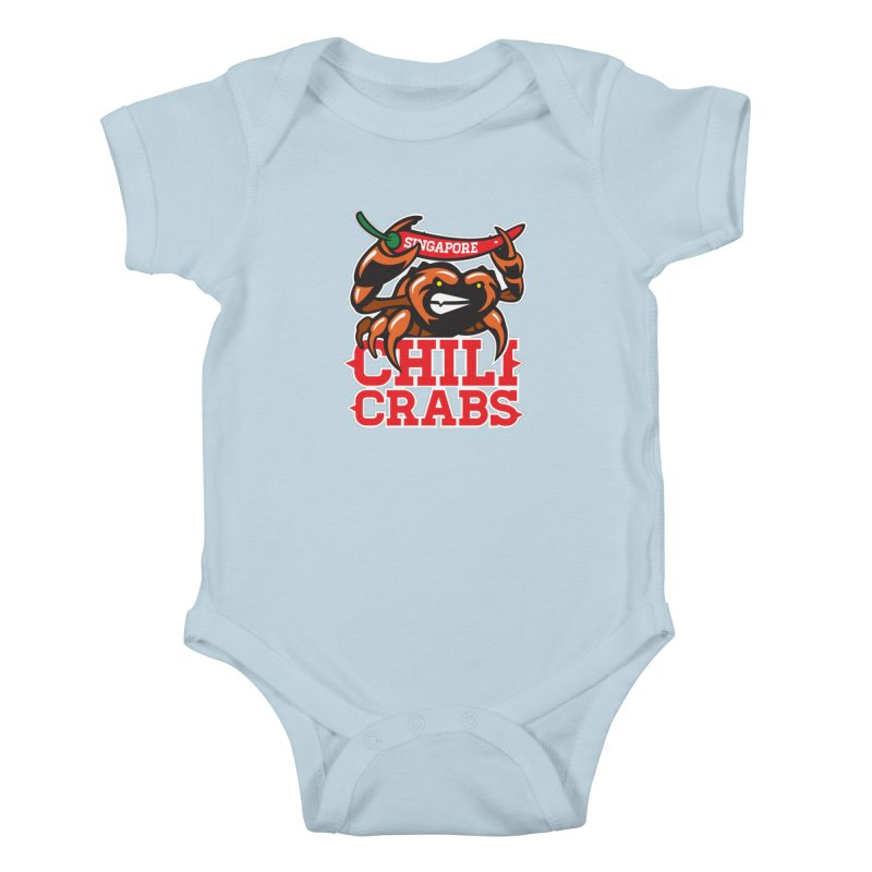 SINGAPORE CHILI CRABS Kids Baby Bodysuit by foodfight's Artist Shop