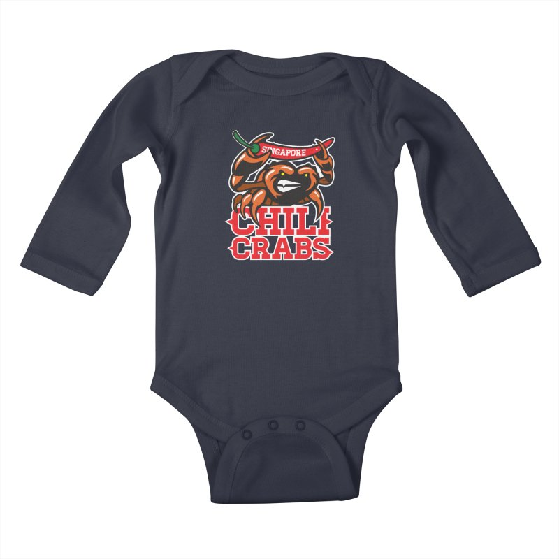 SINGAPORE CHILI CRABS Kids Baby Longsleeve Bodysuit by foodfight's Artist Shop