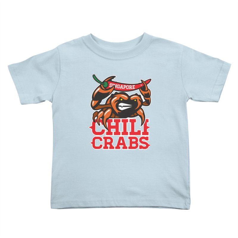 SINGAPORE CHILI CRABS Kids Toddler T-Shirt by foodfight's Artist Shop