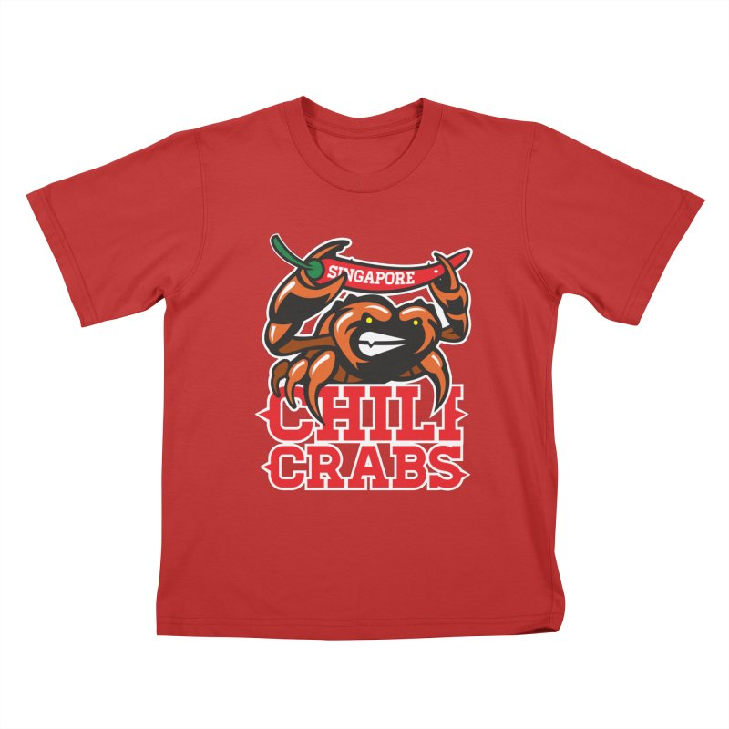 SINGAPORE CHILI CRABS Kids T-Shirt by foodfight's Artist Shop