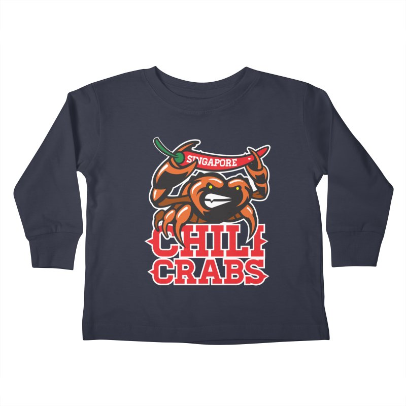SINGAPORE CHILI CRABS Kids Toddler Longsleeve T-Shirt by foodfight's Artist Shop