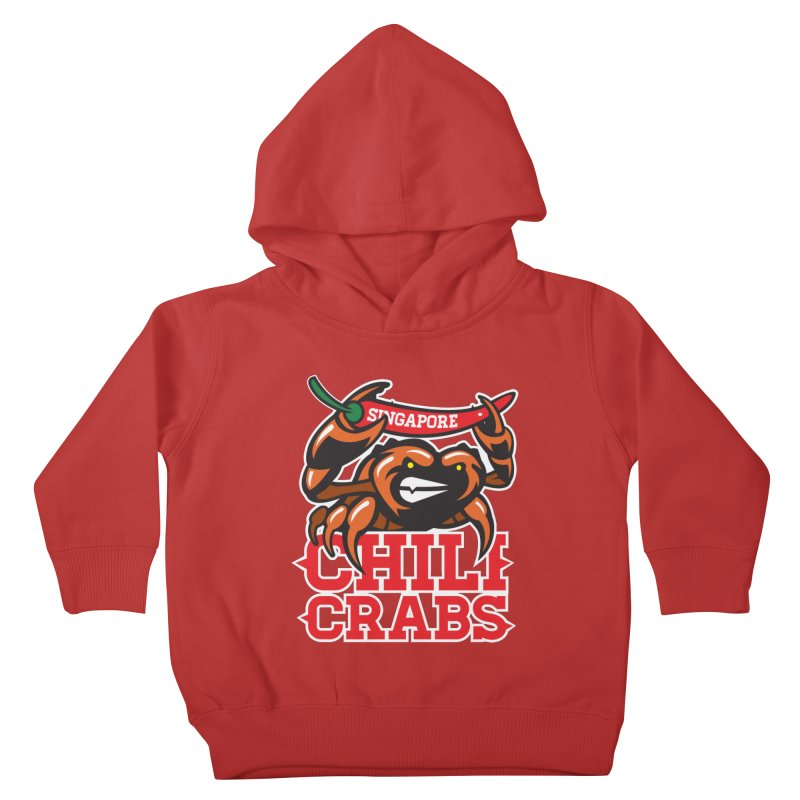 SINGAPORE CHILI CRABS Kids Toddler Pullover Hoody by foodfight's Artist Shop