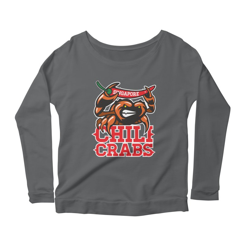 SINGAPORE CHILI CRABS Women's Longsleeve Scoopneck  by foodfight's Artist Shop