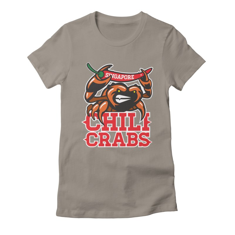 SINGAPORE CHILI CRABS Women's Fitted T-Shirt by foodfight's Artist Shop