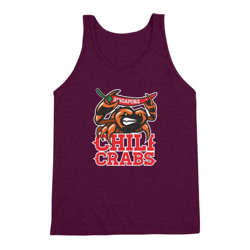 SINGAPORE CHILI CRABS Men's Triblend Tank by foodfight's Artist Shop