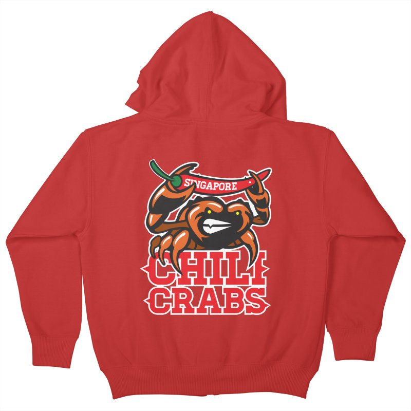 SINGAPORE CHILI CRABS Kids Zip-Up Hoody by foodfight's Artist Shop