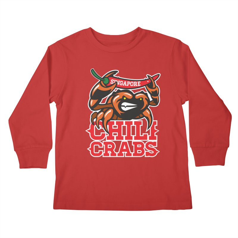 SINGAPORE CHILI CRABS Kids Longsleeve T-Shirt by foodfight's Artist Shop
