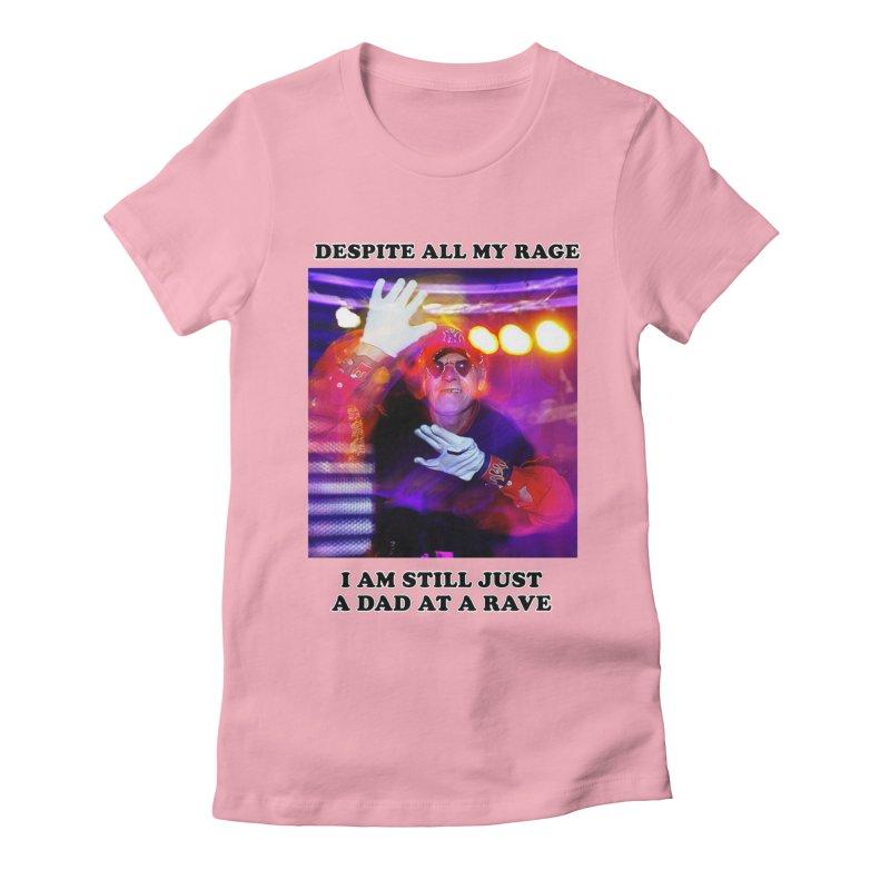 Despite All My Rage Women's Fitted T-Shirt by foodstampdavis's Artist Shop