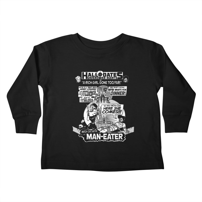 Maneater Kids Toddler Longsleeve T-Shirt by foodstampdavis's Artist Shop