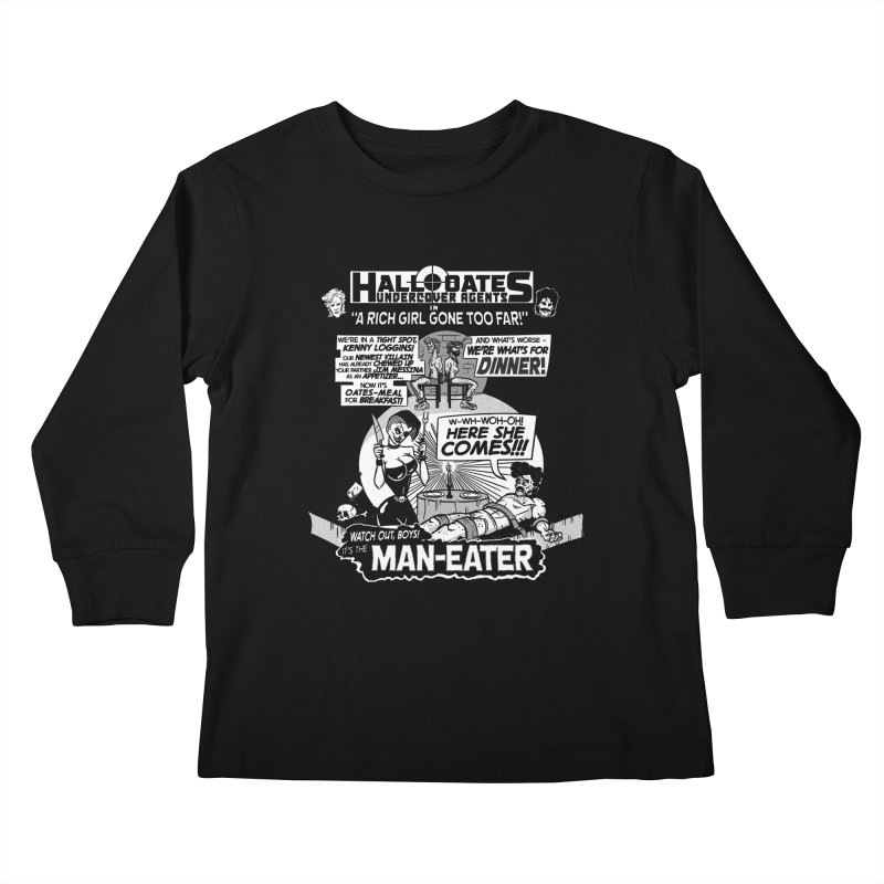 Maneater Kids Longsleeve T-Shirt by foodstampdavis's Artist Shop