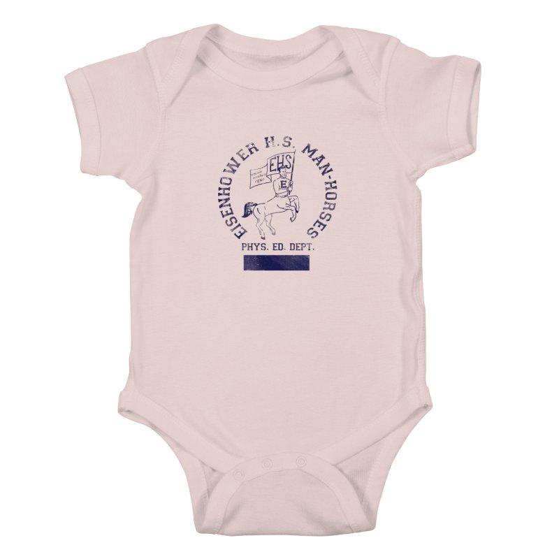 Eisenhower Manhorses Phys. Ed. Kids Baby Bodysuit by foodstampdavis's Artist Shop