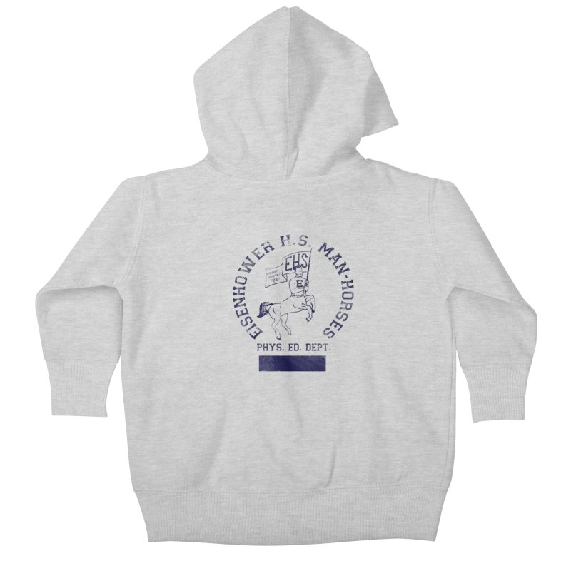 Eisenhower Manhorses Phys. Ed. Kids Baby Zip-Up Hoody by foodstampdavis's Artist Shop
