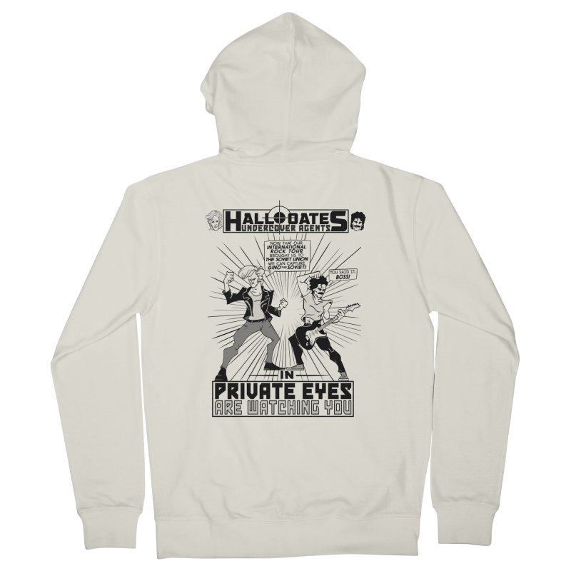 Hall and Oates - Private Eyes Women's Zip-Up Hoody by foodstampdavis's Artist Shop