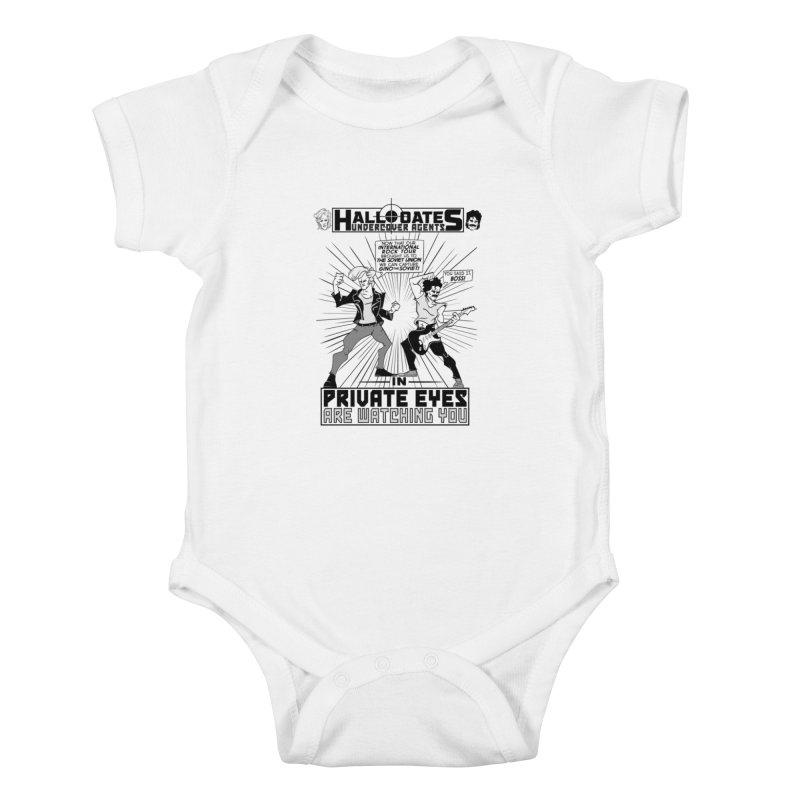 Hall and Oates - Private Eyes Kids Baby Bodysuit by foodstampdavis's Artist Shop
