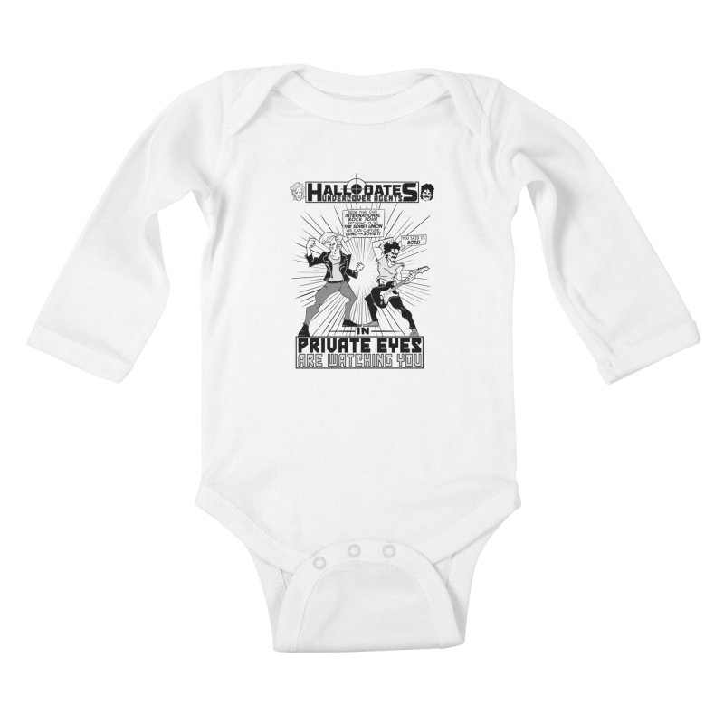 Hall and Oates - Private Eyes Kids Baby Longsleeve Bodysuit by foodstampdavis's Artist Shop